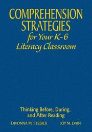 Cover of: Comprehension Strategies for Your K-6 Literacy Classroom