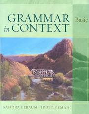 Cover of: Grammar in Context Basic (Student Book)