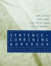 Cover of: Sentence-Combining Workbook