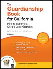 Cover of: Guardianship Book for California