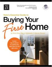 Cover of: Nolo's Essential Guide to Buying Your First Home (book with CD-Rom & Audio)