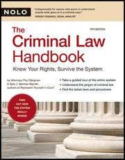 Cover of: Criminal Law Handbook