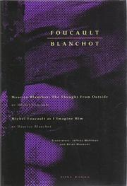 Cover of: Foucault / Blanchot: Maurice Blanchot: The Thought from Outside and Michel Foucault as I Imagine Him