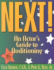 Cover of: Next! An Actor's Guide to Auditioning