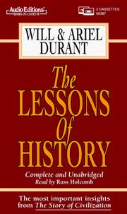 Cover of: The Lessons of History