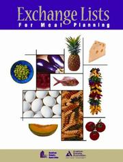 Cover of: Exchange Lists for Meal Planning
