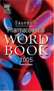 Cover of: Saunders Pharmaceutical Word Book 2005