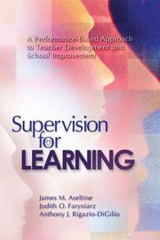 Cover of: Supervision for Learning