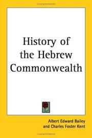 Cover of: History of the Hebrew Commonwealth