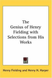 Cover of: The Genius of Henry Fielding with Selections from His Works