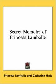 Cover of: Secret Memoirs of Princess Lamballe