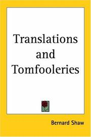 Cover of: Translations and tomfooleries