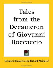 Cover of: Tales from the Decameron of Giovanni Boccaccio