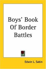 Cover of: Boys' book of border battles