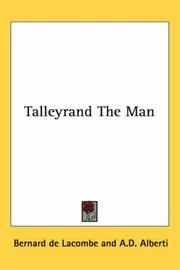 Cover of: Talleyrand the Man