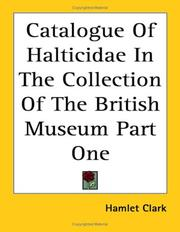 Cover of: Catalogue of Halticidae in the Collection of the British Museum