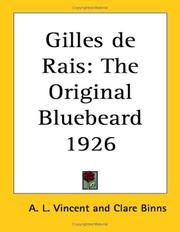 Cover of: Gilles de Rais