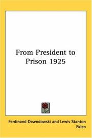 Cover of: From President to Prison 1925