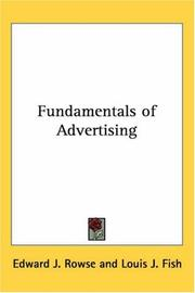 Cover of: Fundamentals of Advertising
