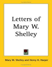 Cover of: Letters of Mary W. Shelley