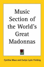 Cover of: Music Section of the World's Great Madonnas