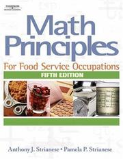 Cover of: Math Principles for Food Service Occupations
