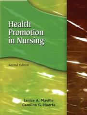 Cover of: Health Promotion in Nursing