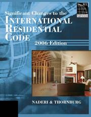 Cover of: 2006 Significant Changes to the International Residential Code