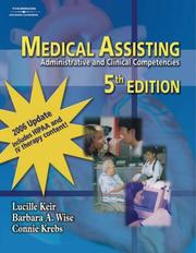 Cover of: Medical Assisting: Administrative & Clinical Competencies 2006 Update (Medical Assisting: Administrative & Clin (W/CD))