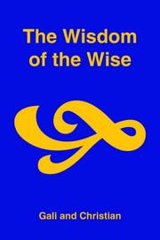 Cover of: The Wisdom of the Wise