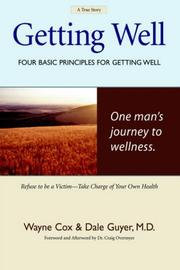 Cover of: Getting Well