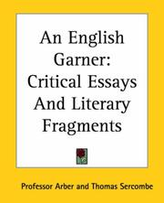 Cover of: An English Garner: