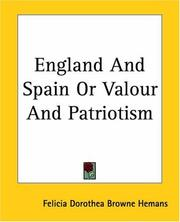 Cover of: England And Spain Or Valour And Patriotism