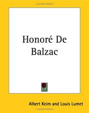 Cover of: Honoré de Balzac