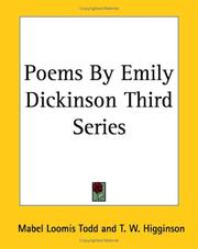Cover of: Poems By Emily Dickinson (3)