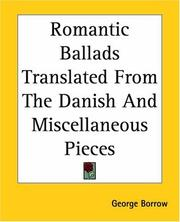 Cover of: Romantic Ballads