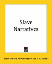 Cover of: Slave Narratives