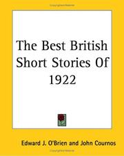Cover of: The Best British Short Stories Of 1922