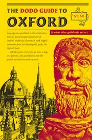Cover of: The Dodo Guide to Oxford
