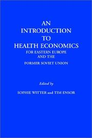 Cover of: An Introduction to Health Economics for Eastern Europe and the Former Soviet Union
