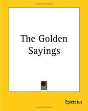 Cover of: Golden sayings: with the Hymn of Cleanthes