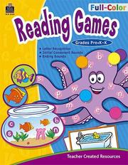 Cover of: Full-Color Reading Games, PreK-K (Full-Color Reading Games)