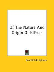 Cover of: Of The Nature And Origin Of Effects