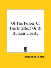 Cover of: Of The Power Of The Intellect Or Of Human Liberty