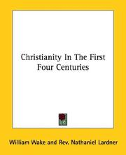 Cover of: Christianity In The First Four Centuries