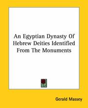 Cover of: An Egyptian Dynasty of Hebrew Deities Identified from the Monuments