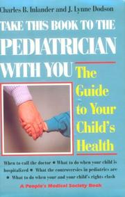 Cover of: Take this book to the pediatrician with you