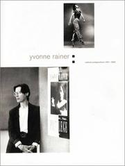 Cover of: Yvonne Rainer