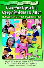 Cover of: A Drug-Free Approach to Asperger Syndrome and Autism