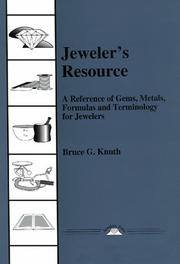 Cover of: Jeweler's Resource
